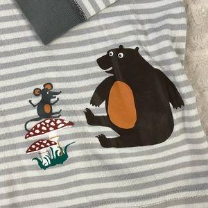 Hanna Andersson Pajamas - Hanna Andersson Pajama Top Gray Stripes Bear 10